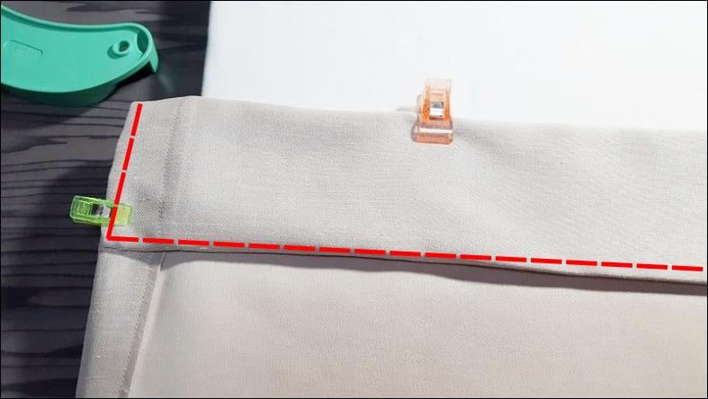 カーテン自作 芯地の縫い付け
