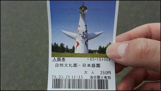 日本さくら名所100選の万博記念公園桜まつり