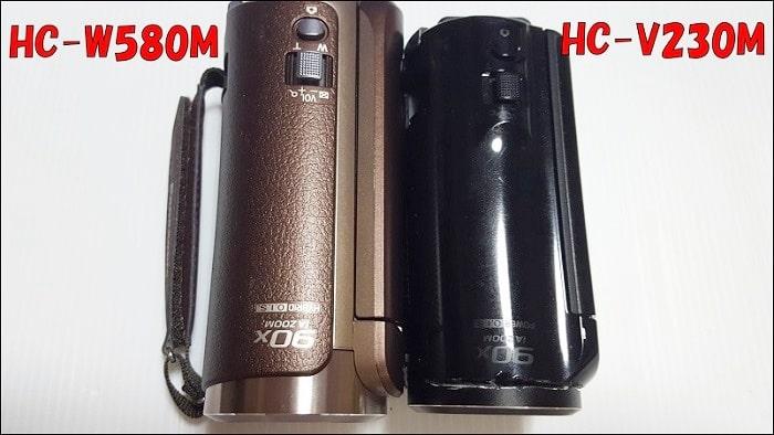 HC-W580M HC-V230Mと比較