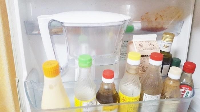 冷蔵庫のドアポケットにスッポリ収まる