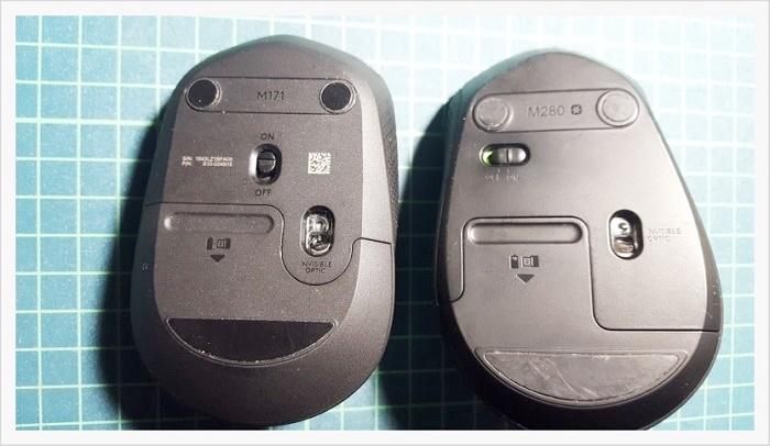 ロジクールワイヤレスマウスM171・M280