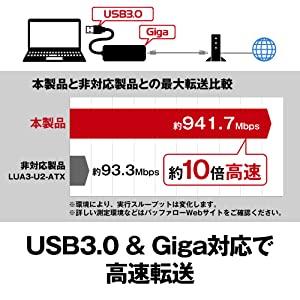 USB3.0 & Giga対応により高速転送可能