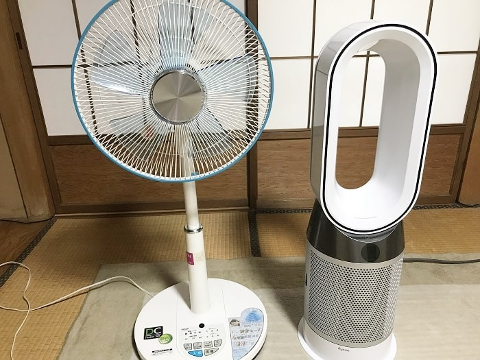 通常の扇風機に比べてコンパクト設計